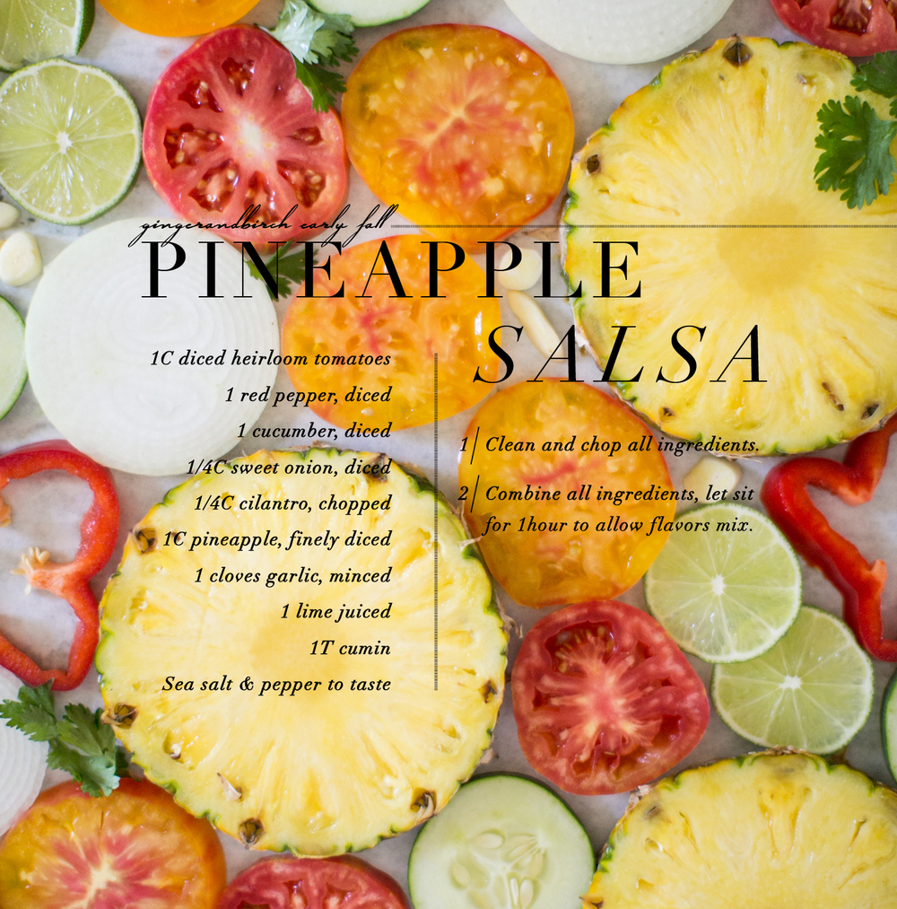 pineapple salsa, ginger & birch, lily glass photographer
