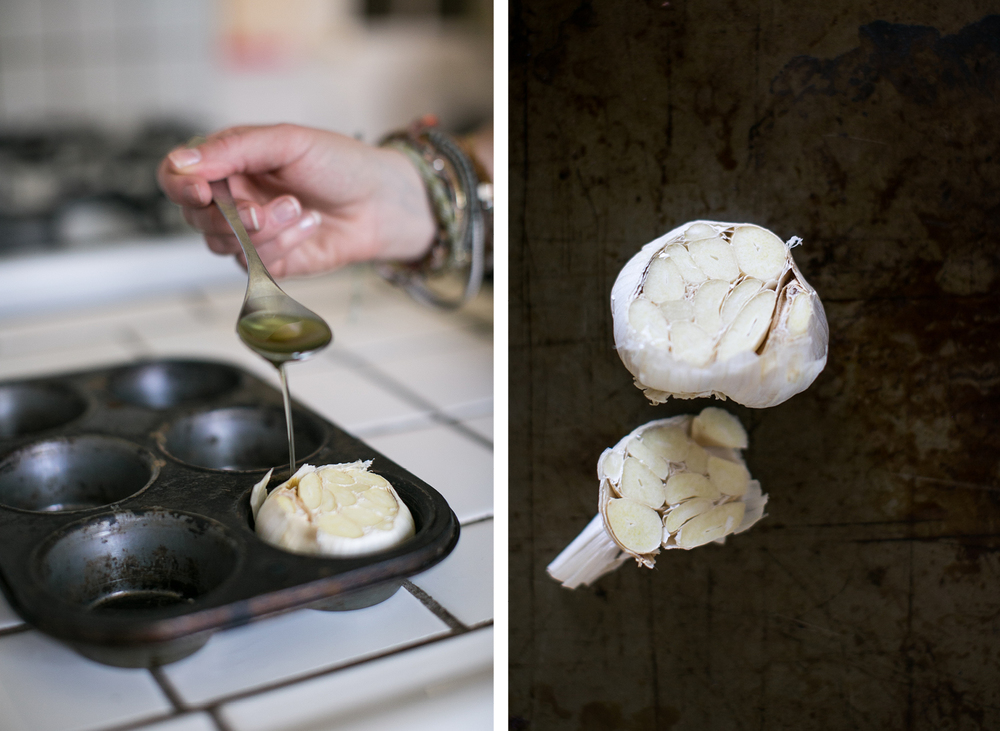 roasted garlic / simple recipes / photography by lily glass