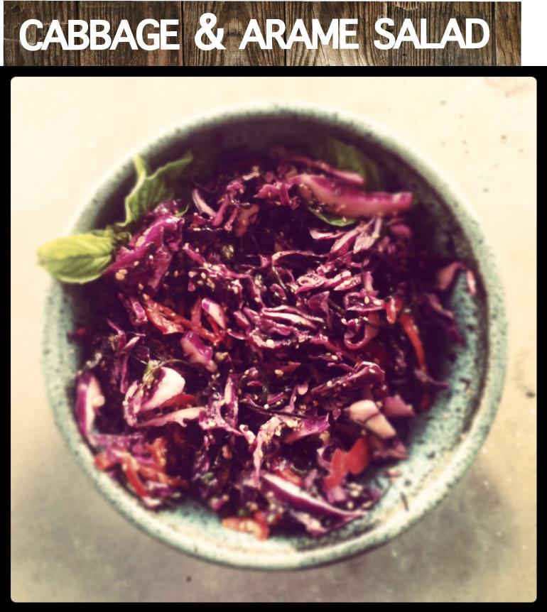 Tangy Tahini Seaweed & Cabbage Salad