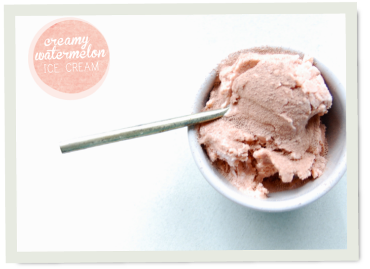 Stevia Sweetened Watermelon Ice Cream