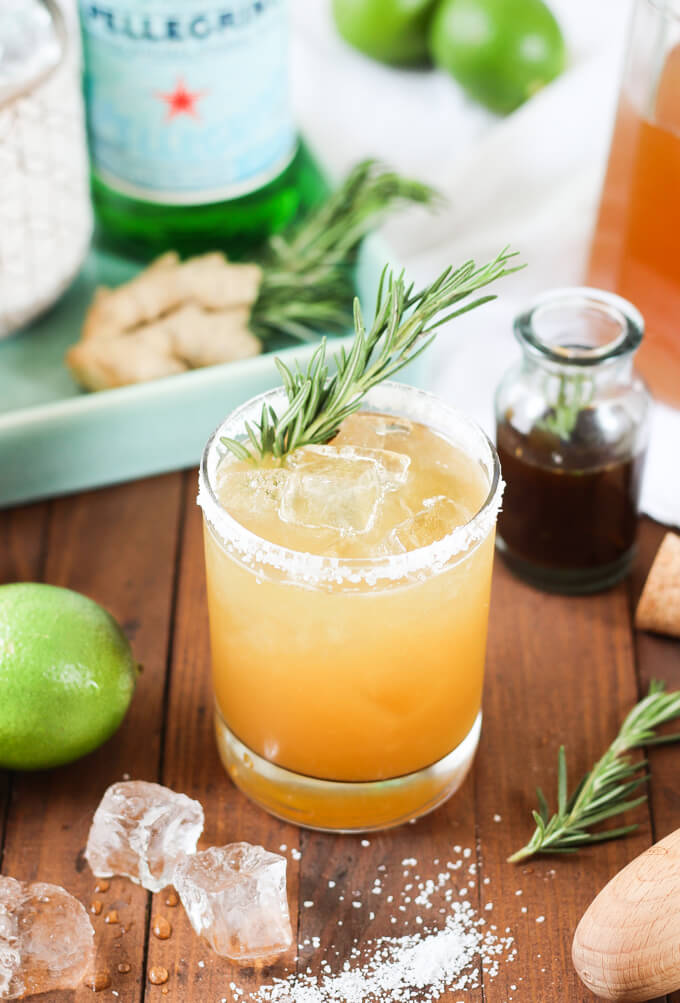 Rosemary Ginger Margaritas // via WickedSpatula