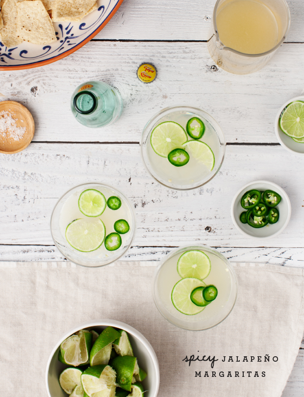 Spicy Jalapeno Margs // via Love & Lemons