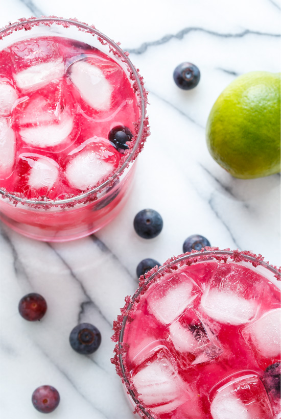 Fresh Blueberry Margs // via Love & Olive Oil