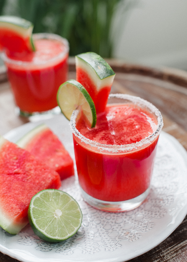 Watermelon Lime Margs // via Kitchen Confidante