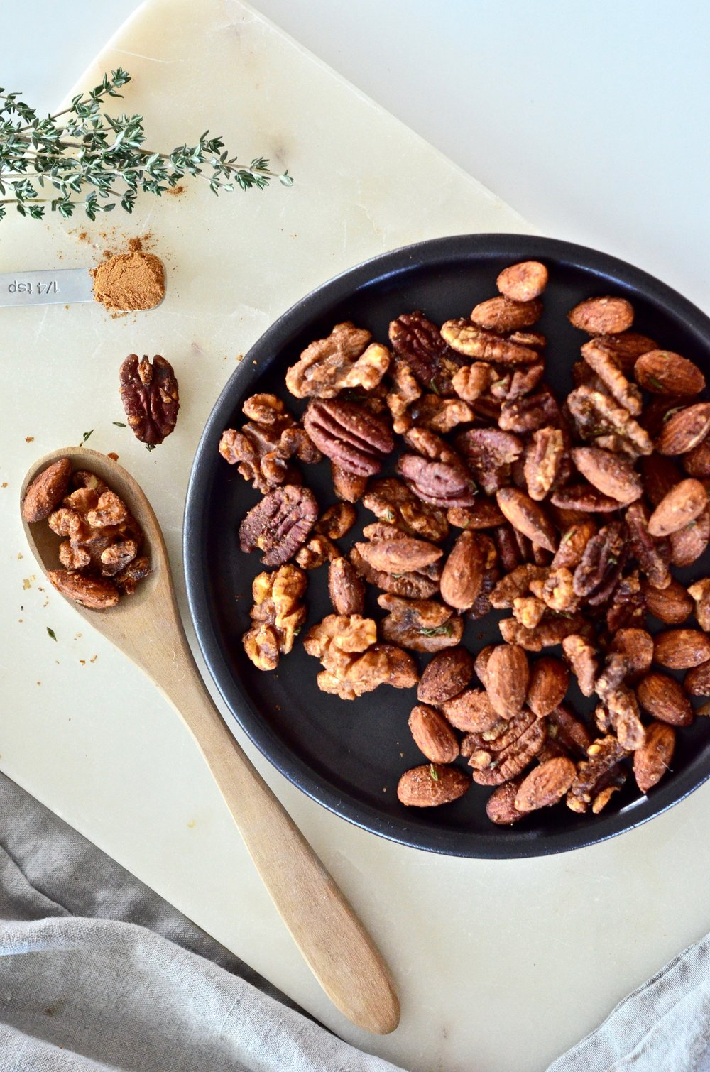 pumpkin pie candied nuts recipe | vegan | plant-based | puremamas