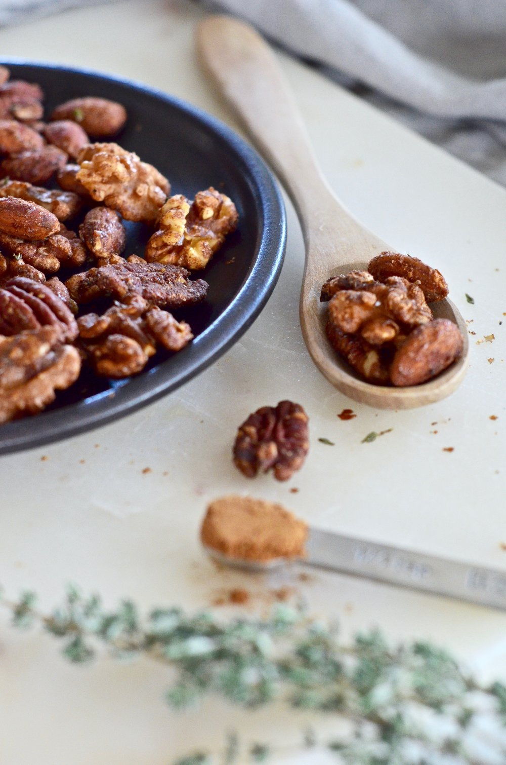 pumpkin pie candied nuts recipe | puremamas
