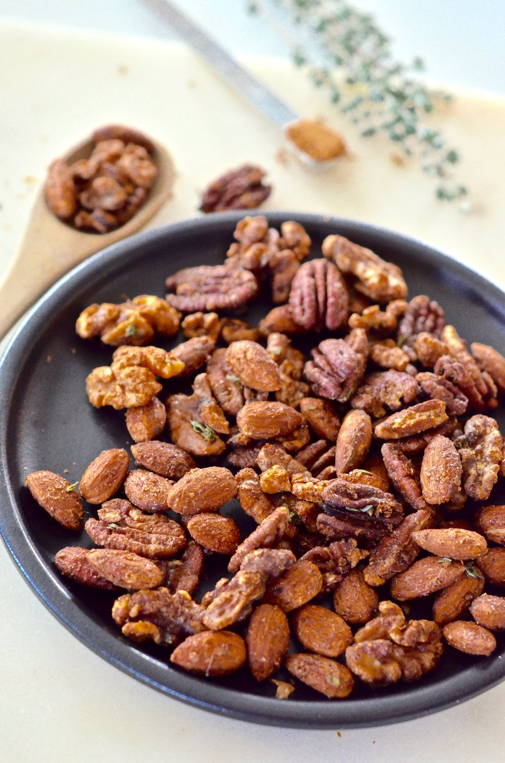 pumpkin pie candied nuts recipe | #puremamas