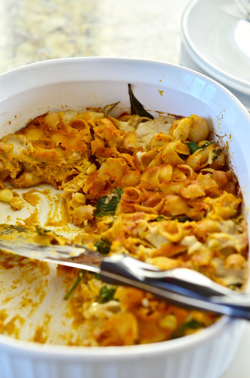 Butternut Squash (vegan) Baked Pasta Recipe | gluten-free | plant-based