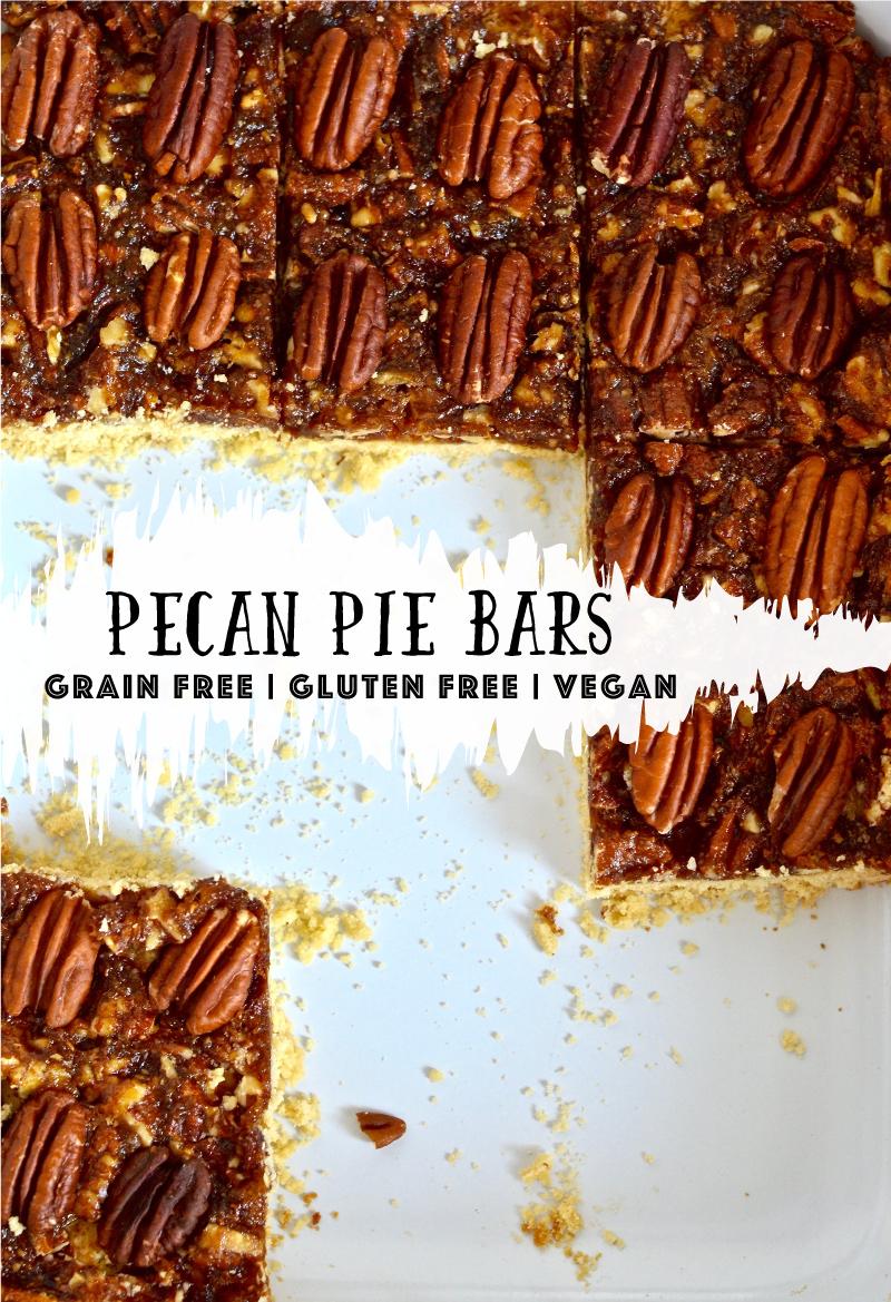 pecan pie bars || gluten-free grain-free dairy-free [vegan] @julinovotny #puremamas recipe
