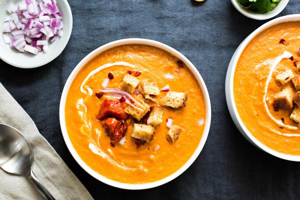 Tomato Harissa Soup | vegan gluten-free | #puremamas