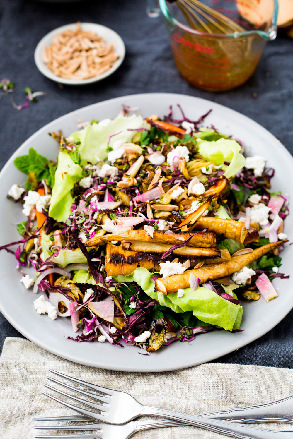 Roast Root Vegetable + Radish Salad | Vegan | Gluten-free | #puremamas