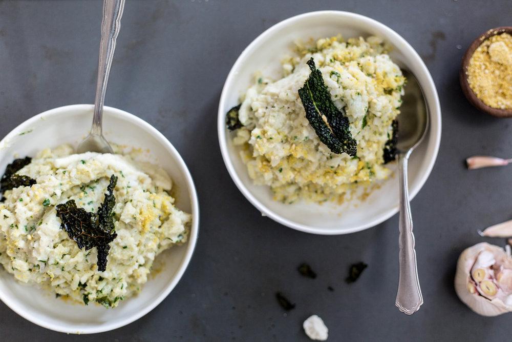 Creamy Cauliflower Sauce Risotto | Vegan | Gluten-free | #puremamas @julinovotny