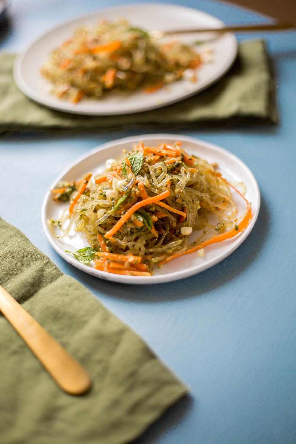 Kelp Noodles with Mint Pesto | Pure Kitchen Blog | @julinovotny