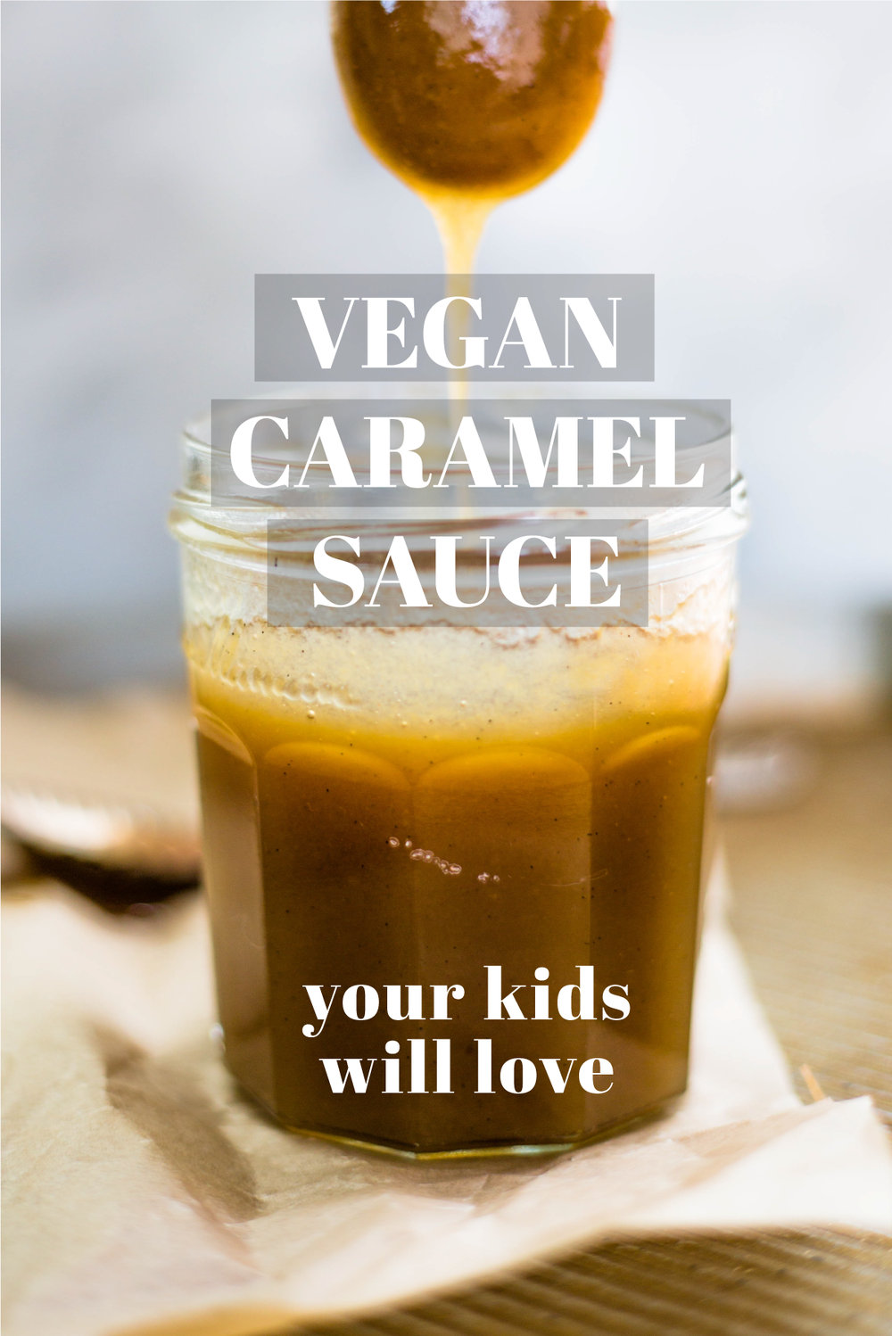 Vegan Caramel Sauce Recipe Your Kids Will Love. #purelittles