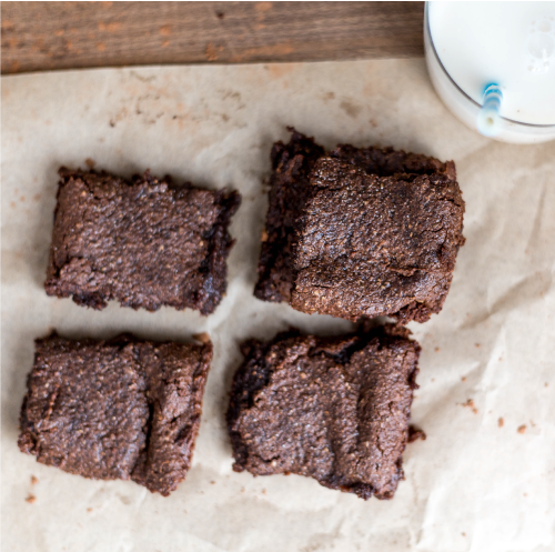 Tahini Chickpea Brownies