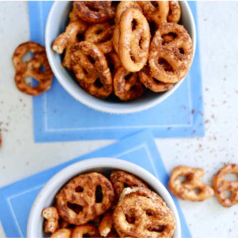 Cinnamon Sugar Kids Pretzels