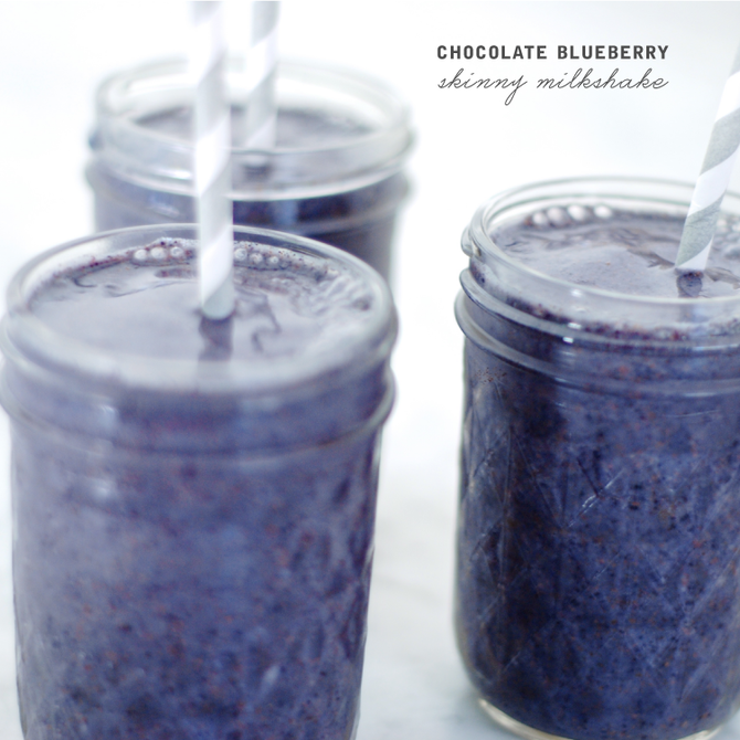 Chocolate Blueberry Milkshake