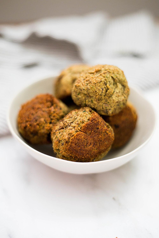Vegan meatless lentil meatballs. Dairy-free. Grain-free. High protein. Soy-free.