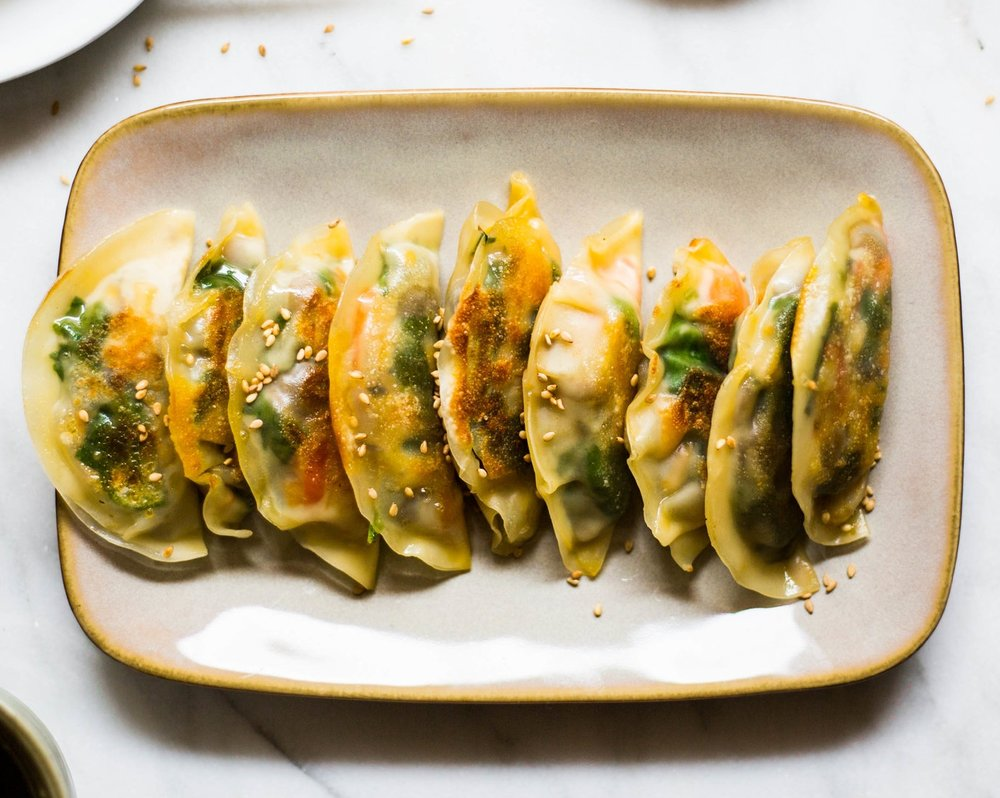 vegetable potstickers that are to die for. #vegan