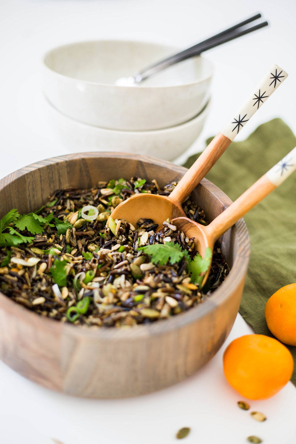 Superfood Protein-packed Wild Rice Salad #vuori #purekitchenblog #plant-based #vegan #dairyfree