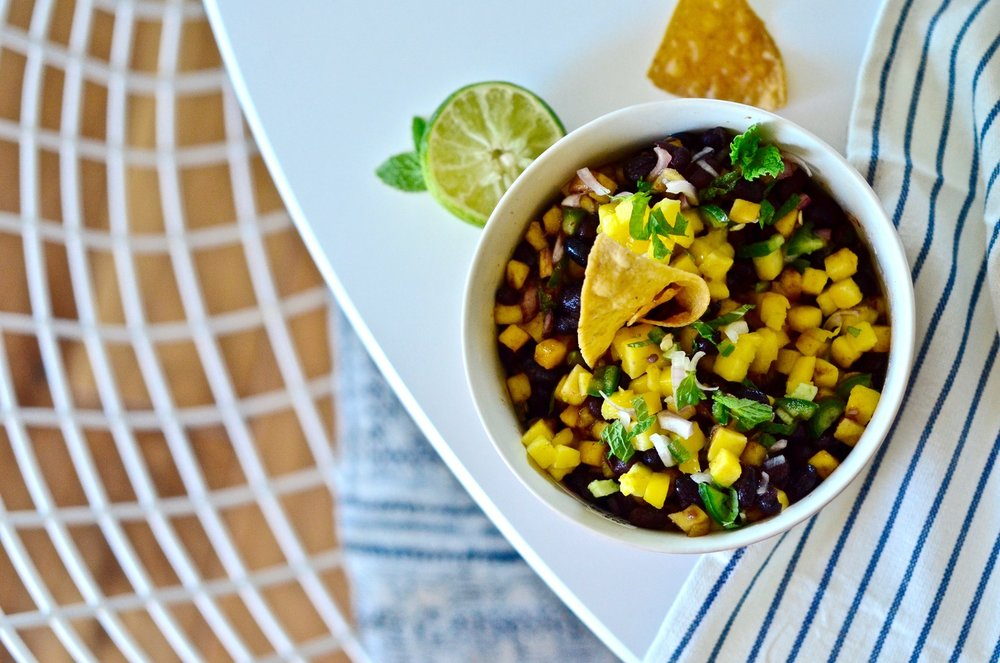 Spicy Black Bean & Mango Salsa
