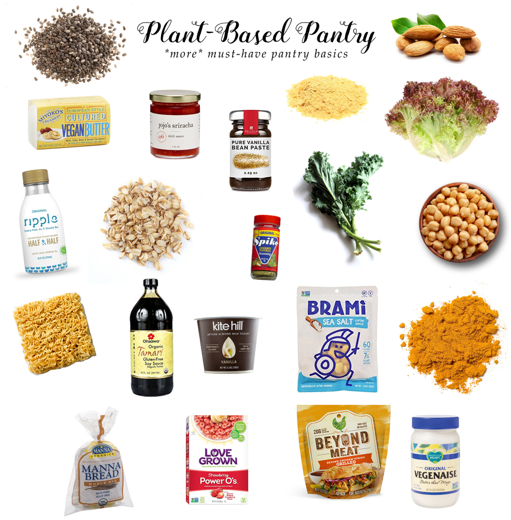 plant-based pantry basics & must-haves