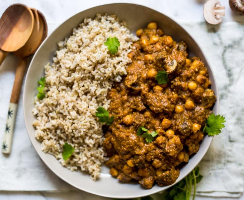 Chickpea and Mushroom Korma