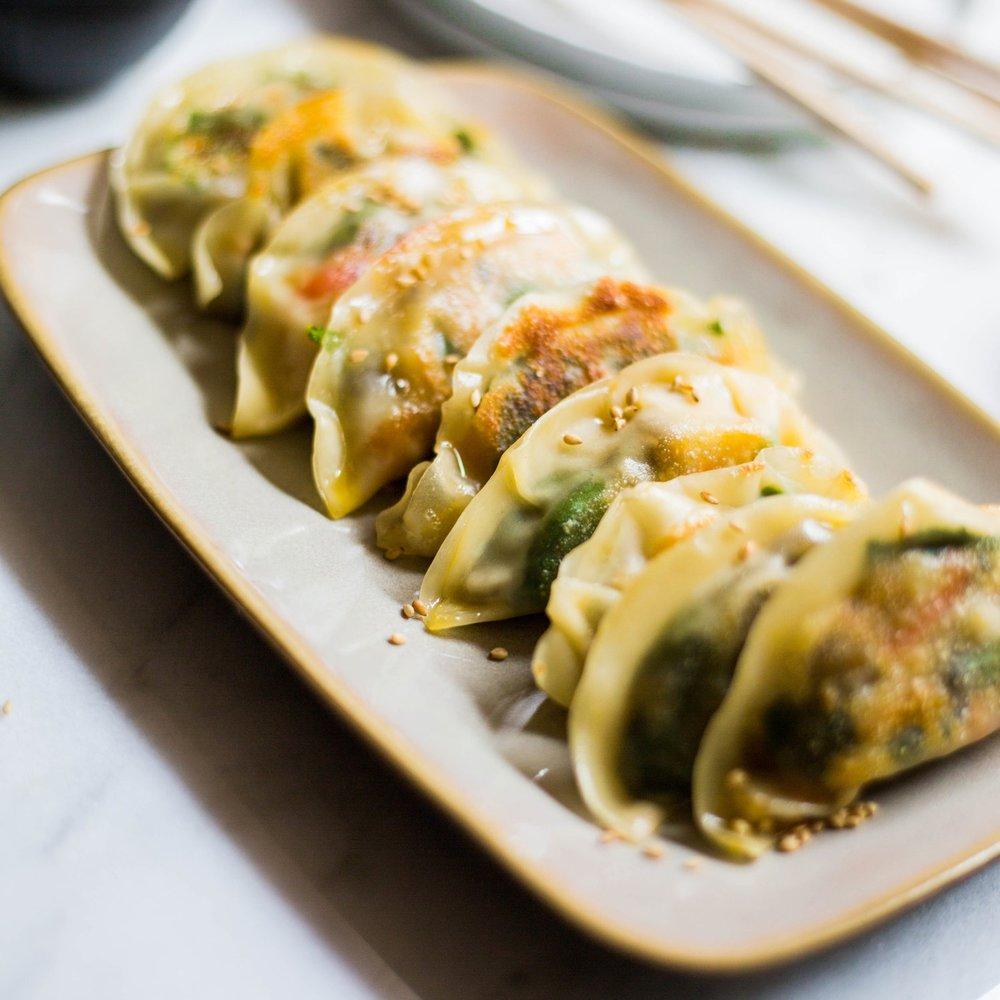 Spinach & Mushroom Potstickers