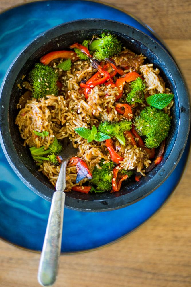 Rice Millet Ramen Noodle Bowl | GF Vegan | #purekitchenblog