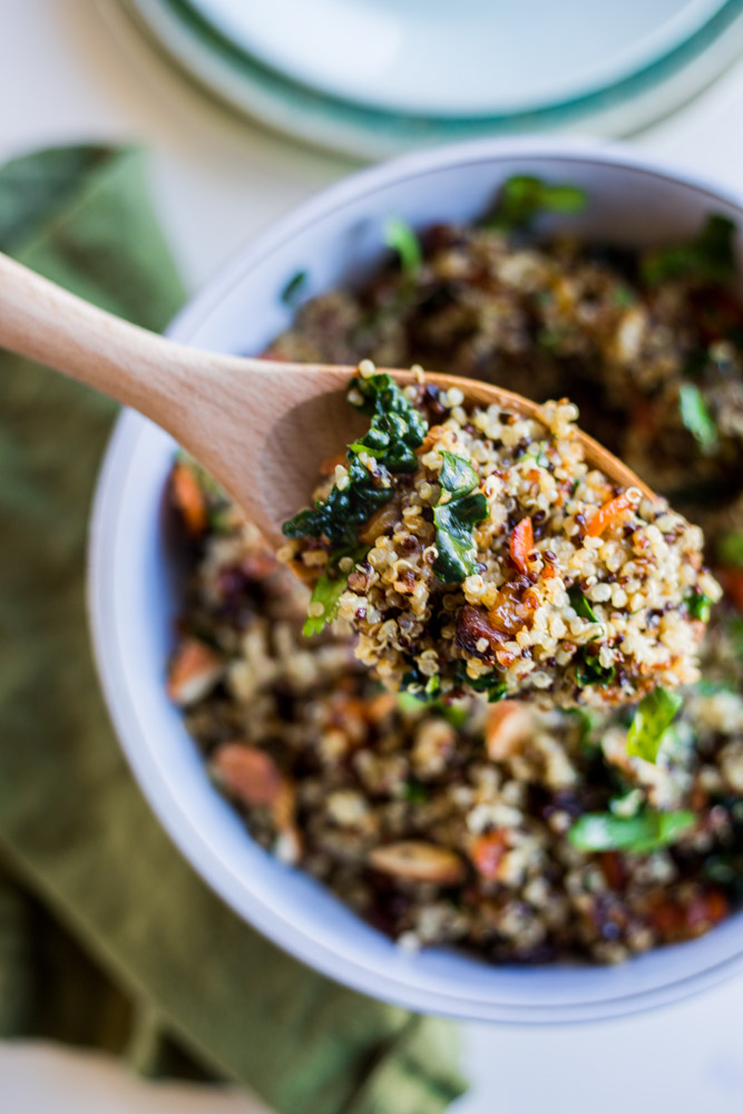 Warm Ginger Glazed Quinoa Salad | #vegan #gluten-free #puremamas Recipe