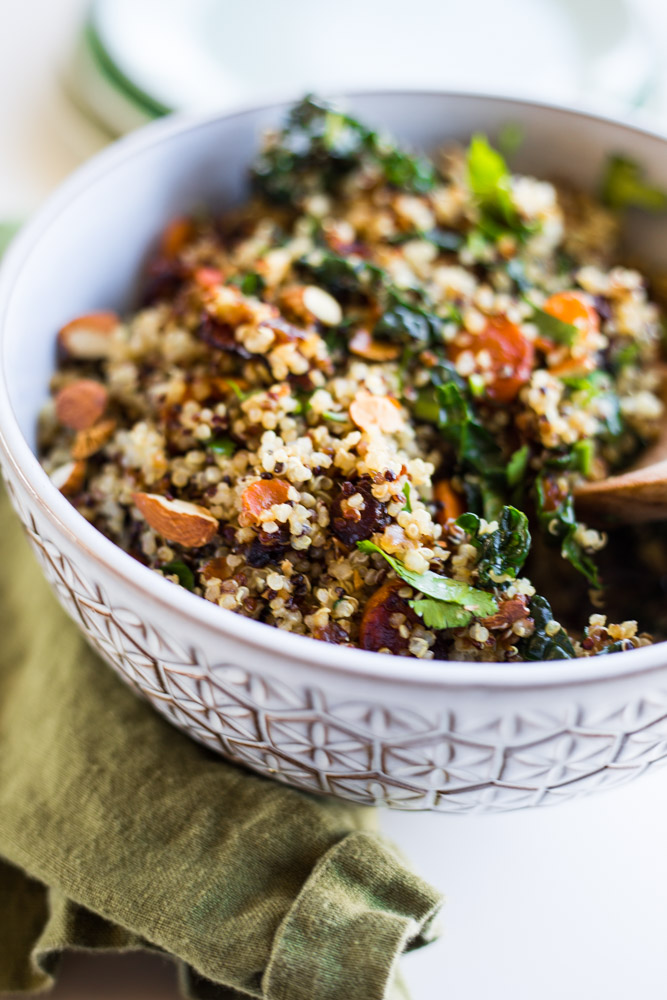 Vegan Warm Quinoa Salad Recipe | #puremamas #purekitchen #glutenfree