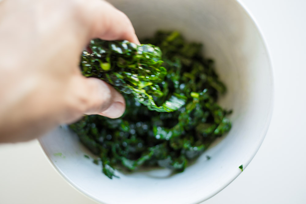 marinate & massage your kale