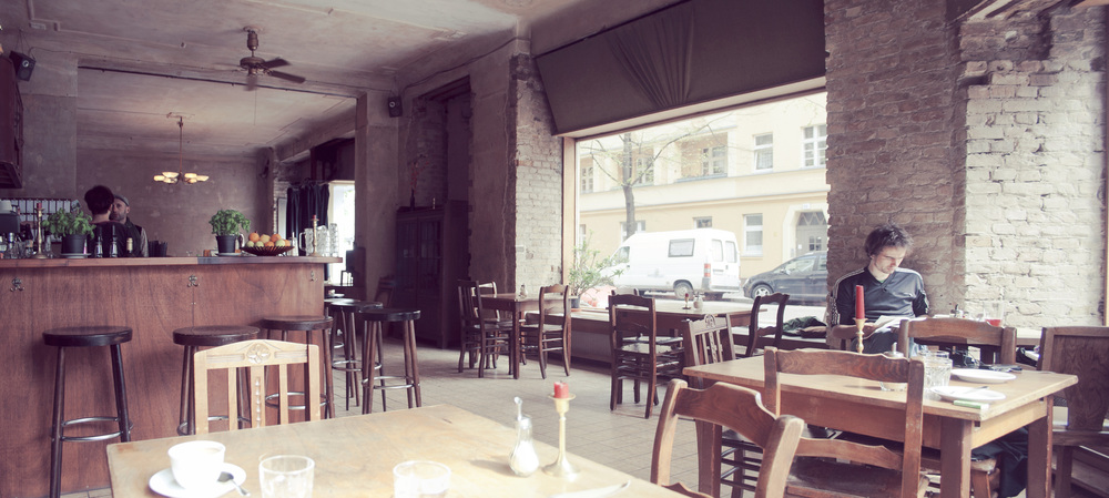 cafe on the corner of Weserstrasse and Weichselstrasse, Neukölln.