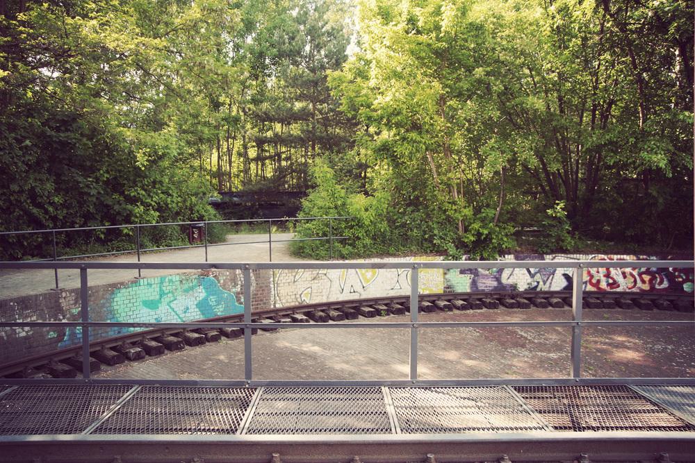 old traincar-turning area