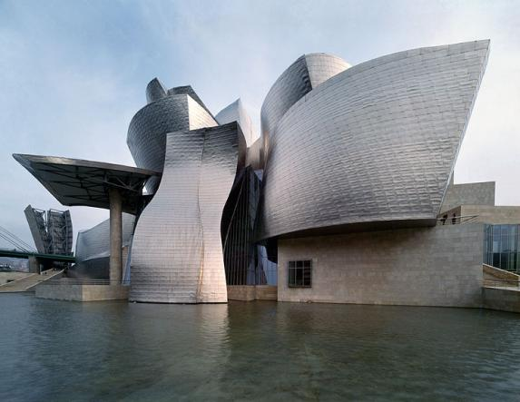 The Guggenheim Museum in Bilboa, Spain.
