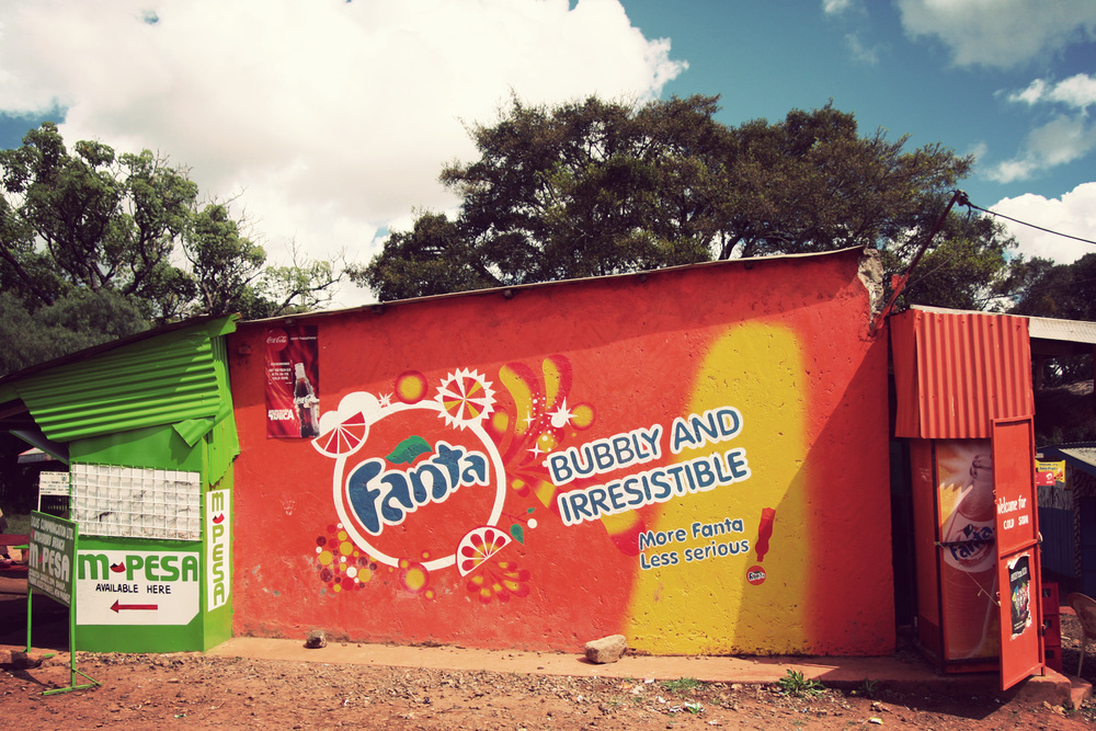 Sponsored facade painting. Much nicer than billboards!!