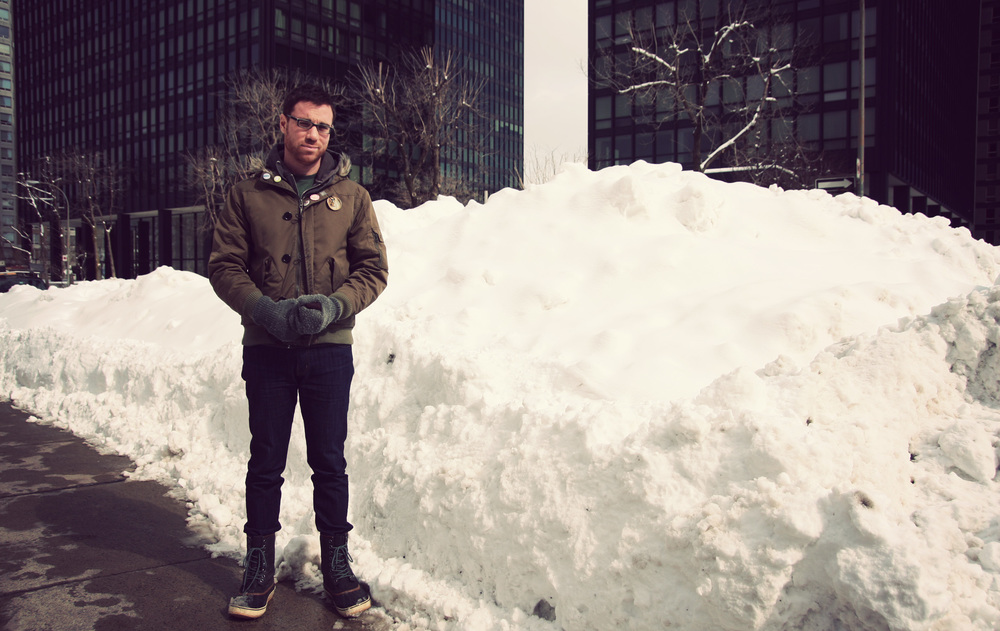 Snowpiles taller than Jed. Impressive, but not impressed.