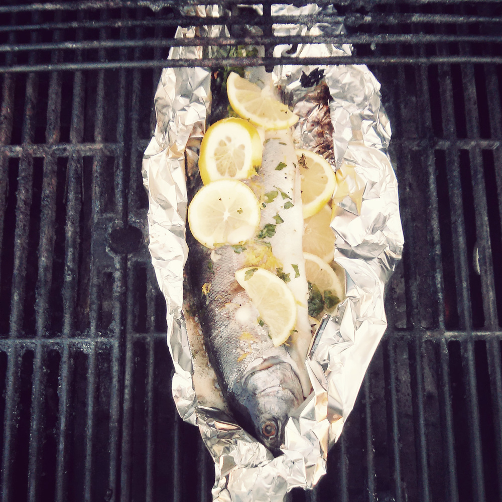 A whole trout on the BBQ - anything better?