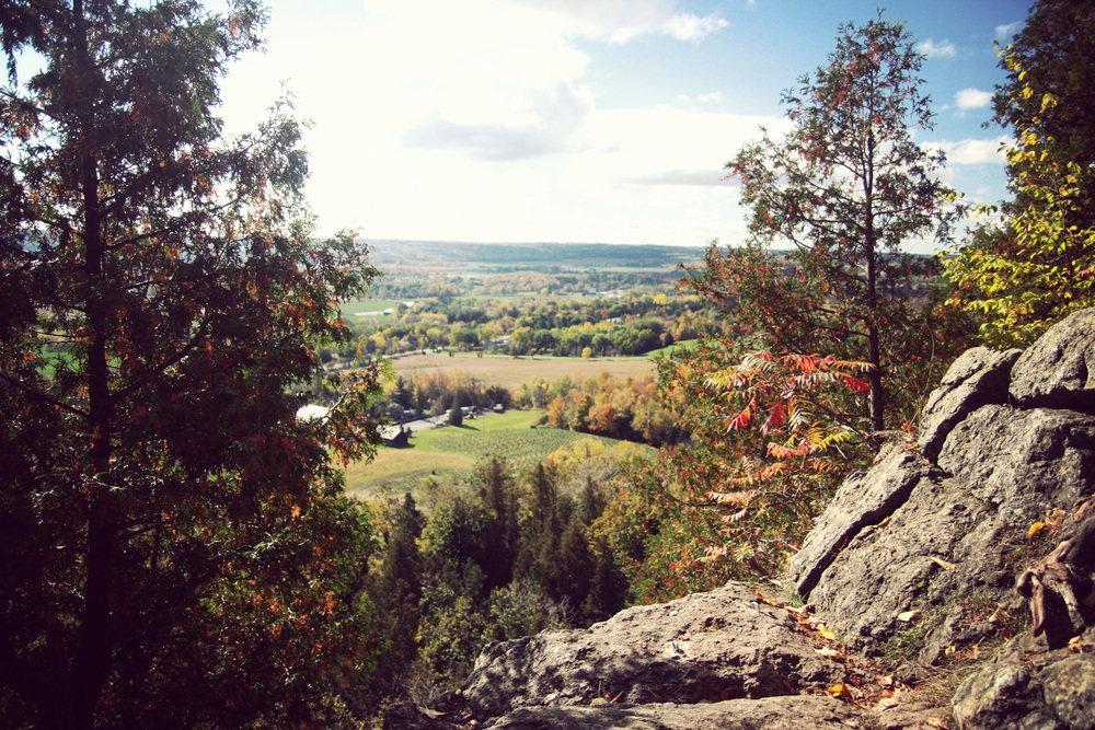 View over Southern Ontario from Rattlesnake Point