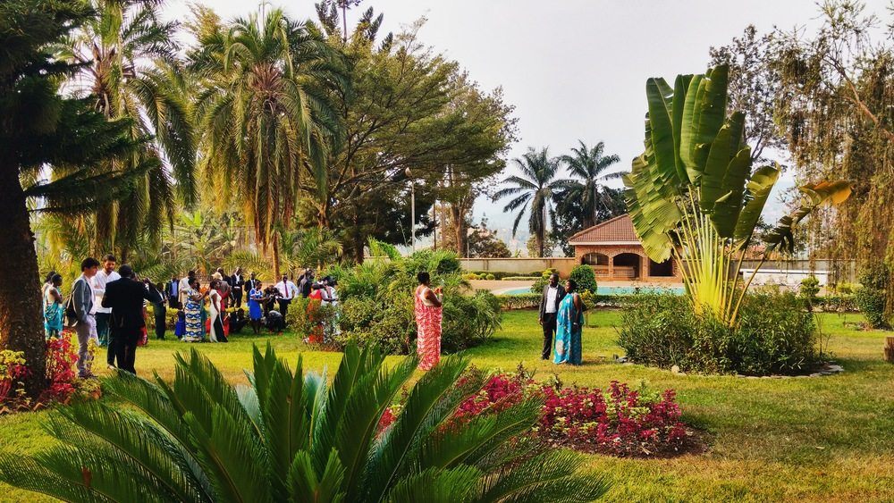 The Gardens of the old Presidential Palace (now a museum) - venue for the first Rwandan wedding we have attended!