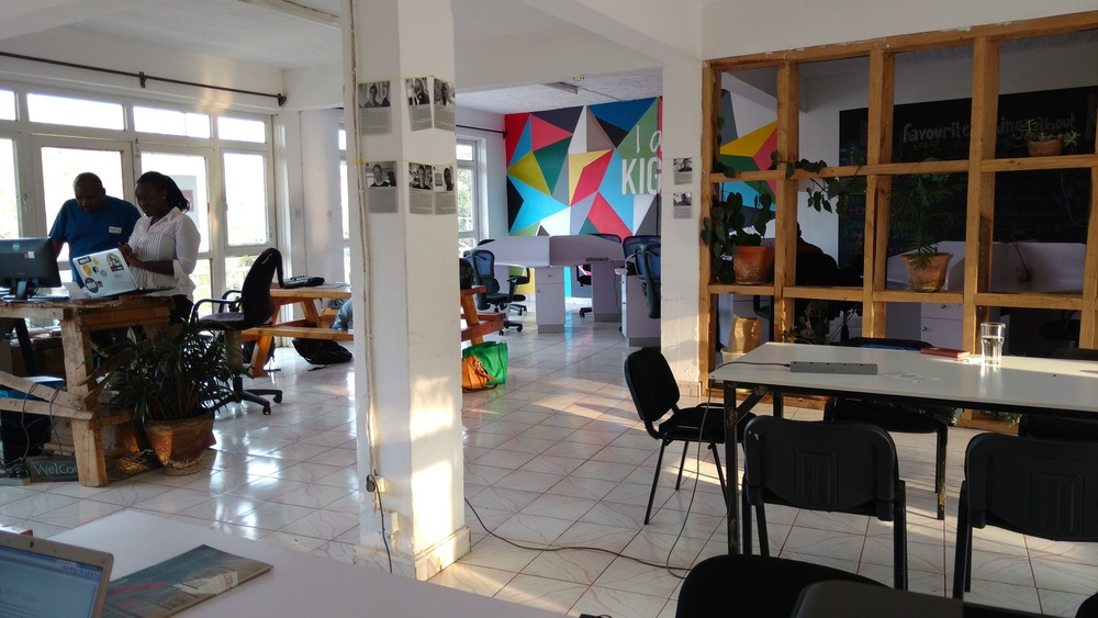 Inside Impact Hub, the coworking space at The Office