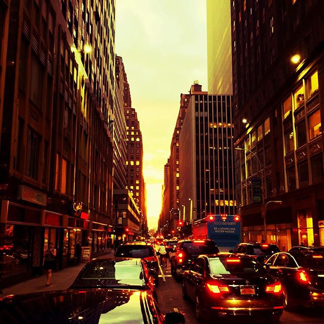 Sometimes traffic can look pretty... #NYC #rushhour