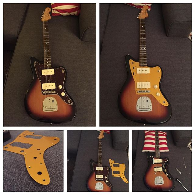 A little home project... #jazzmaster #goldguard