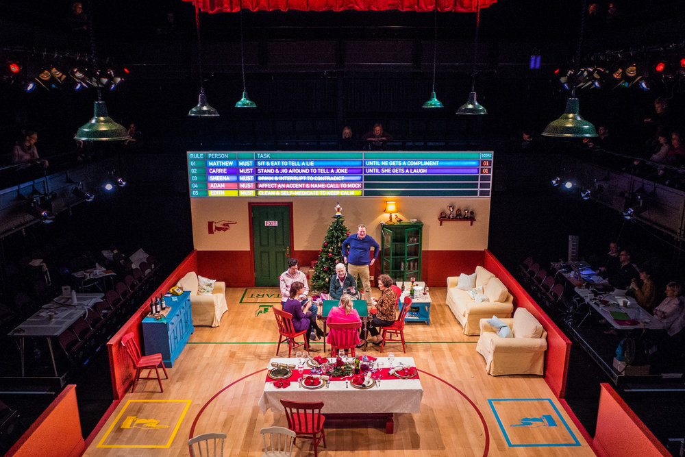 Rules For Living  / By Sam Holcroft   The Dorfman Theatre at the National Theatre  March 2015  +   Direction  Marianne Elliott   Lighting  Neil Austin   Sound  Ian Dickinson   Music  Adrian Sutton