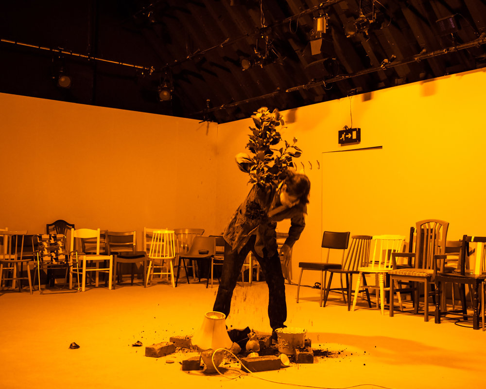 Nuclear War  by Simon Stephens  Jerwood Theatre Upstairs at the Royal Court Theatre  April 2017  +  Direction:  Imogen Knight   Lighting:   Lee Curran