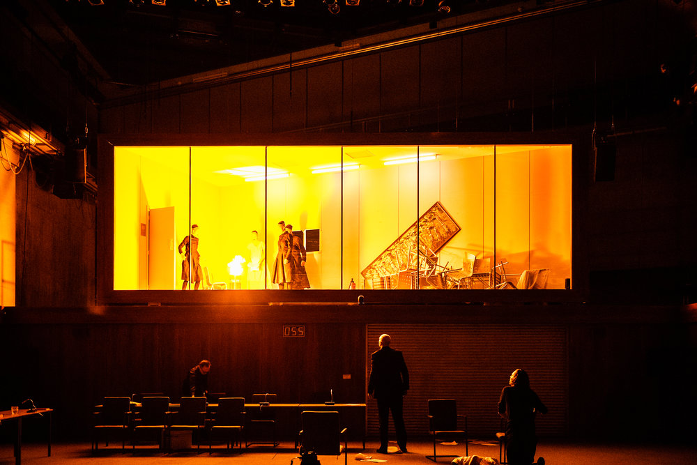 Hexenjagd (The Crucible)  by Arthur Miller  Theater Basel  January 2018  +  Direction  Robert Icke   Lighting  Tom Visser   Sound  Tom Gibbons