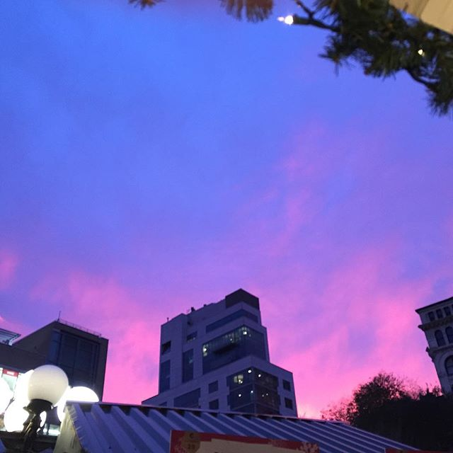 Union Square Holiday Market Sky. No filter.