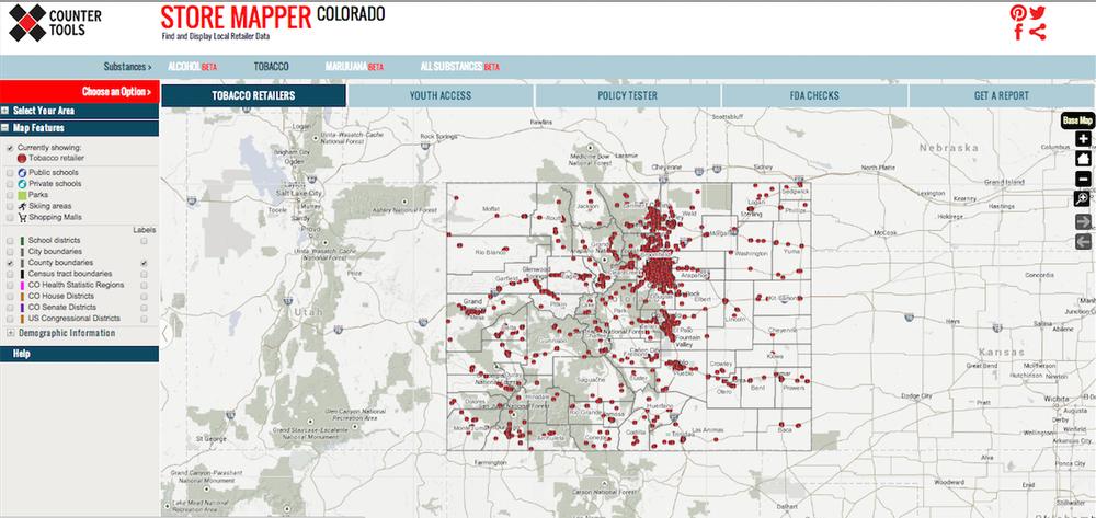 Store Mapper Colorado: www.countertools.org/comapper