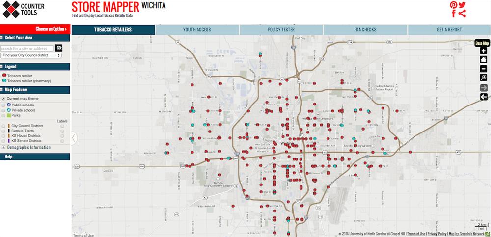 Store Mapper Wichita: www.countertools.org/witchitamapping