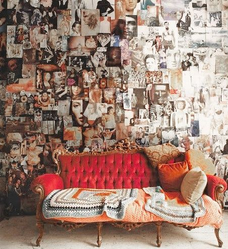 I just like this. Who doesn't love a collage wall?